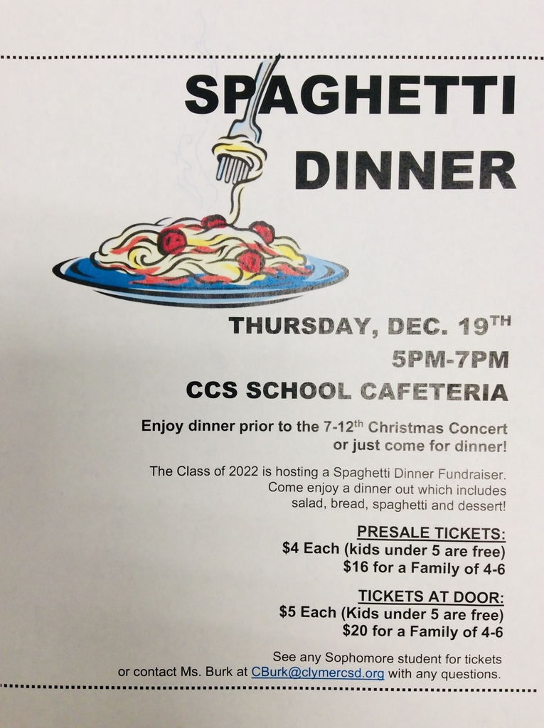 Class of 2022 Spaghetti Dinner
