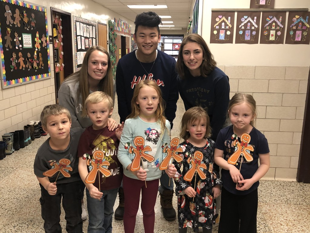 The Kindergartners enjoyed their annual Gingerbread Man Hunt today with the help  of some NHS students.