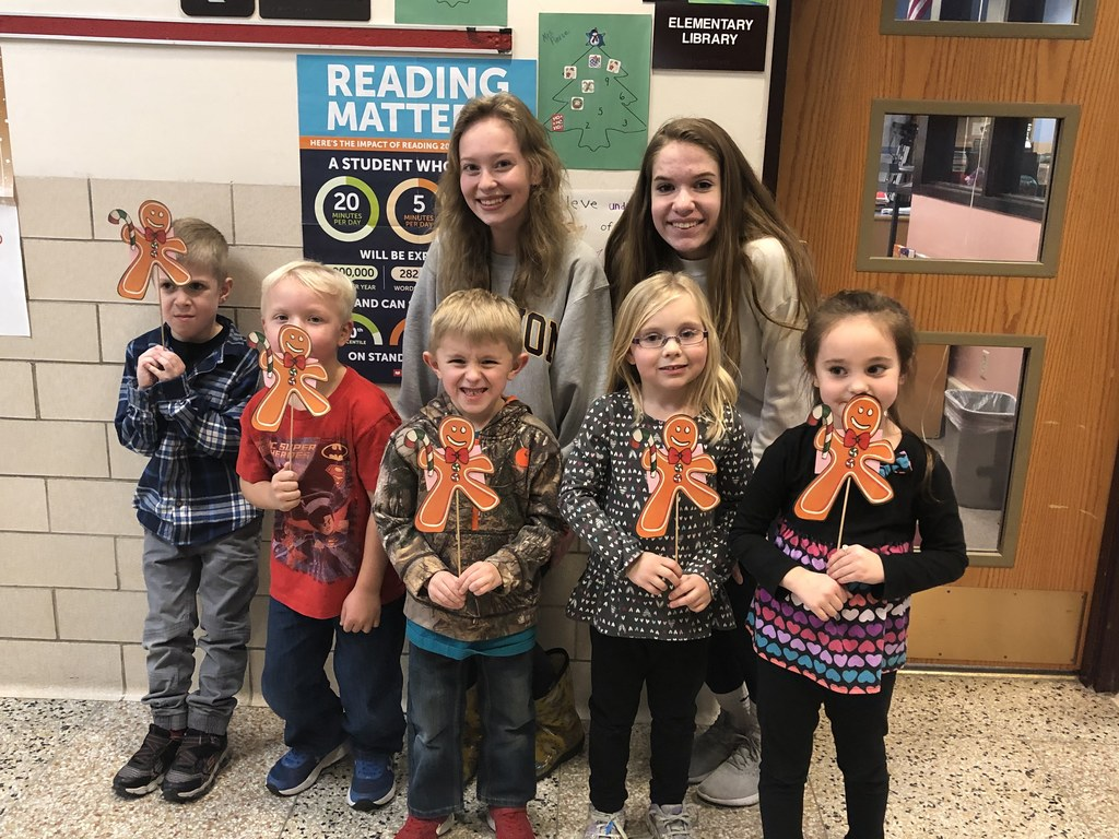 The Kindergartners enjoyed their annual Gingerbread Man Hunt today with the help of some of the NHS students.