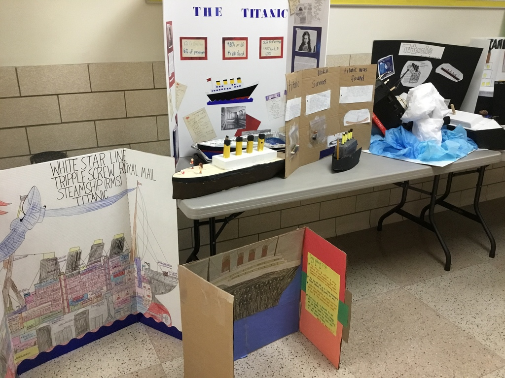 The third graders Titanic projects are definitely First Class!